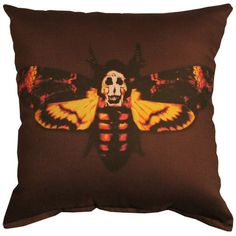 Horror Decor - Silence of the Lambs - moth pillow Horror Decor, Horror Themes, Spook Houses, Matching Paint Colors, Halloween Pillows, Bedroom Themes, Bedroom Ideas, Pillow Talk, Dream Bedroom