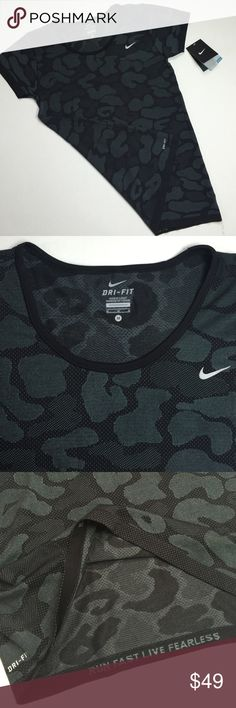 NWT Nike camo sport shirt M New with tags size M camo pattern grey color Nike Tops Tees - Short Sleeve