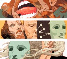 Few mini illos I did for the New Yorker~ Only the middle one is going to be published, but these were fun so I polished off the rest too. Article is about the movie Holy Motors making its NYFF premiere soon. WEBSITE FACEBOOK PRINTS
