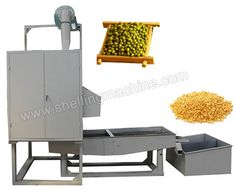 TFD150 mung bean peeling machine mainly consists of grinder, separating sieve, loading hopper, electric control cabinet. * Capacity: 150kg/h * Power: 9kw * Weight: 2.8mts * Dimensions: 4m * 2.2m * 2.4m
