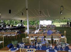 #OakSummitVineyard #reception #tentdesign #navyblue #delphiniums #rusticweddings #hudsonvalleyweddings #cinderella4aday cinderella4aday.com