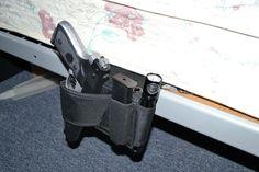 Amazon.com : Under Mattress Bed Handgun Holster with Tactical Flashlight Loop : Gun Holsters : Sports & Outdoors