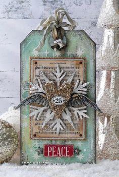 That's Life: Peace & Joy At Christmas; Christmas Gift Tags, Christmas Paper, Xmas Cards, Christmas Projects, Vintage Christmas, Holiday Cards, Christmas Ornaments, Christmas Tags Handmade, Merry Christmas