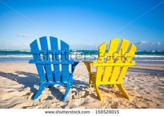 Blue Beach Chairs Stock Photos, Images, & Pictures | Shutterstock
