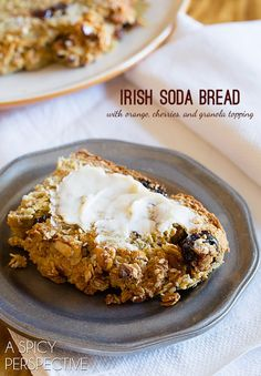 Irish Soda Bread with Orange Cherries and Granola Top