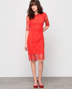 Laura Clément Spetsklänning i Svart, Marin, Beige, Röd - La Redoute