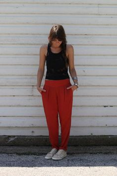Easy Pleat Trousers style pic on Free People