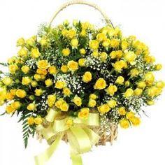 200 Yellow Roses Basket.  Buy this mesmerizing 200 yellow roses basket at just Rs 4,999.