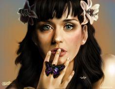 ♡ On Pinterest @ kitkatlovekesha ♡ ♡ Pin: Art ~ Katy Perry Digital Art ♡