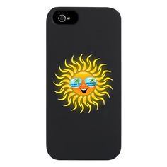 #Summer #Sun #Cartoon with #Sunglasses #iPhone- 5 #Case on #CafePress.com - SOLD! Thanks to the Buyer!