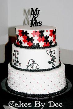 Cake Decorating: Puzzle Piece Cake
