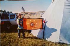 International Sundance with Johnny Bares and Cherokee flag