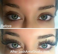 Marvelous before-and-after look for these beautiful #lashes. Nail Design, Nail Art, Nail Salon, Irvine, Newport Beach