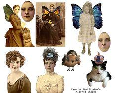 Collage Sheet [larger sizes available] Free Collage, Digital Collage, Collage Art, Vintage Prints, Vintage Art, Paper Dolls, Art Dolls, Collages, Stencils