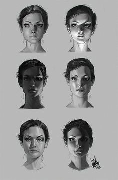 Face Drawing pinuparena: By Mel Milton - bad poetry society - Digital Painting Tutorials, Digital Art Tutorial, Art Tutorials, Drawing Tutorials, Digital Paintings, Drawing Studies, Art Studies, Figure Drawing, Drawing Reference