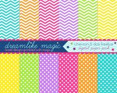 polka dot and chevron freebie from Dreamlike Magic!