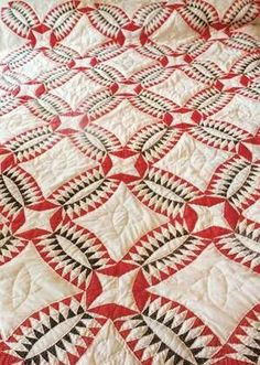 Antique pickle dish quilt, begun 1878, finished 2013 by Lois Fish