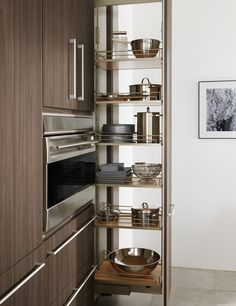amazing modern cool adorable classic nice compact pull out pantry with old brown accent and has metal levels