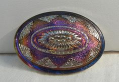 Large Lacy Oval Czech Glass Button by MostlyButtons on Etsy, $6.00