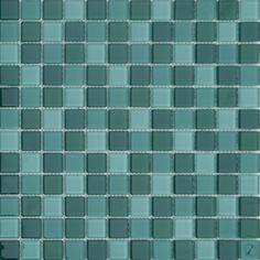 MOSAICOS DE CRISTAL: CRISTAL VERDE OSCURO MIX 30x30 cm