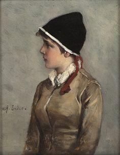 soyouthinkyoucansee:Young Norwegian girl Axel Hjalmar Ender ( Norway 1853-1920)-