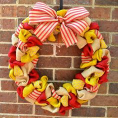 Chi Omega Burlap Wreath by KsSouthernCharm on Etsy