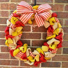 Chi Omega Burlap Wreath by KsSouthernCharm on Etsy