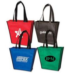 Promotional Tote Bags, Custom Cinch Sacks, Pad Folios, Promotional Bags, Logo Back Packs, Imprinted - Small Handy Tote Bag Tote Bag - 9726 - www.BagFrenzy.com offers many tote bags for your promotional products needs! 888-259-9668