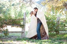 Oak Glen Portrait and Wedding Photographer – Hailey & Richard : Engaged!! » Blair Nicole Photography #Rustic #Engagement #OakGlen #Pose #Romantic #Apple #picking #tractor #Picnic
