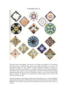 47. Heraldic Devices bThe white flowers that appear in the devices of Luthien are probably to be connectedwith the flowers...