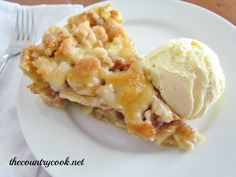 The Country Cook: Butter Crumble Apple Pie
