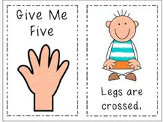 """Preschool Wonders: FREE book for """"Give me Five"""" Classroom management strategy"""