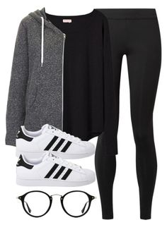 """Sin título #14208"" by vany-alvarado ❤ liked on Polyvore featuring The Row, Organic by John Patrick, Topshop, Ray-Ban and adidas Originals"