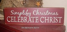 Simplify Christmas sign