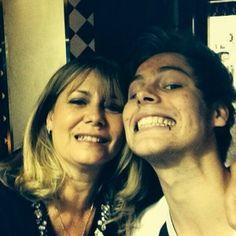 luke hemmings and his mom haha his mum is just like calm down Luke XD