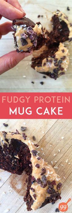 Fudgy Protein Mug Cake | GrokGrub.com
