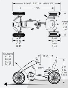 Kart pedales eléctrico mountain extra sport red e-bfr - / berg - Erhebung - superschnelle Autos Sp2 Vw, Go Kart Kits, Three Wheel Bicycle, Go Kart Frame, Homemade Go Kart, Mini Jeep, Go Kart Plans, Diy Go Kart, Microcar