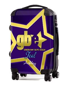 Cheer Luggage creates custom luggage for your team, company or just for you. Gym Logo, Custom Luggage, Teal, Turquoise, Carry On Luggage, Camping Crafts, Green Bay, Cheerleading, Suitcase