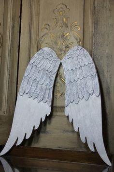 Engel Flügel Dekor, Holz Engel Flügel, Engel Flügel Wand Dekor, weiß Engel Flügel, Mediterranea Design Studio, benutzerdefinierte Engel Flügel Dekor