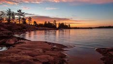 ***Sunrise over Georgian Bay (Lake Huron, Ontario) by Robert Greatrix 🌅🇨🇦 Bay Lake, Road Trip, Lake Photography, Lake Huron, Lake Life, Landscape Photographers, Landscape Art, The Great Outdoors, Beautiful Places