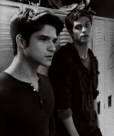 Tyler Posey (Scott McCal) & Daniel Sharman (Isaac Lahey) from Teen Wolf