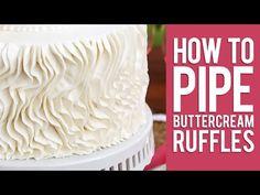 How to Pipe Buttercream Ruffles | Cake Lovers Club                                                                                                                                                     More