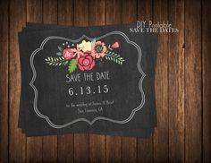 Save the Dates  DIY Printable Chalkboard by KristianRatnamDesign