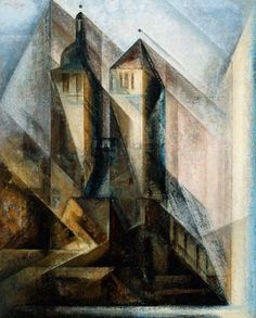Regler Church, Erfurt, 1930 | Lyonel Feininger, American (active in Germany), 1871–1956.
