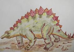 How to draw: A Stegosaurus Drawing Lessons, Animal Drawings, Arts And Crafts, Pretty, Artist, Blog, Painting, Animals, Animales