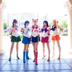 DaydreamerNessa as Sailor Moon  Exastra as Sailor Mercury  Callesto as Sailor Mars  Sparkle Pipsi as Sailor Jupiter   Meru as Sailor Venus    Photo by Masakocha