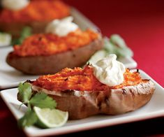 Twice-Baked Sweet Potatoes with Chipotle Chile Recipe