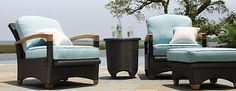 Shop the Gloster Plantation Outdoor Furniture Collection for patio furniture sets that incorporate materials specifically chosen to withstand the rigours of outdoor life. Conquistador, Outdoor Seating, Outdoor Decor, Patio Furniture Sets, Luxury Home Decor, Outdoor Life, Furniture Collection, Modern Luxury, Patio Sets