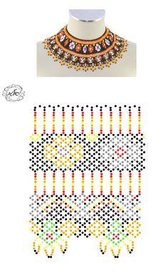 Natali Khovalko   VK Diy Necklace Patterns, Beaded Jewelry Patterns, Beading Patterns Free, Beading Tutorials, Bead Loom Bracelets, Beaded Crafts, Bijoux Diy, Bead Jewellery, Handmade Beads