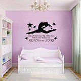 2016 NEW GYMNAST GYMNASTIC GIRLS Wall Art Sticker Decal Home DIY Decoration Decor Wall Mural Removable Bedroom Decal Stickers 57x97cm * To view further for this item, visit the image link. (This is an affiliate link and I receive a commission for the sales)